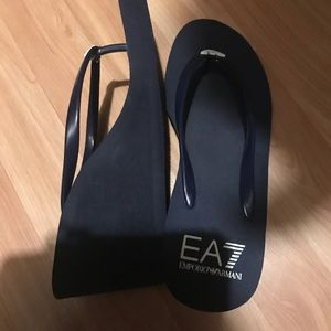 Emporio Armani Shoes - Wedged Flip Flops